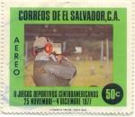 sellos de America - El Salvador -  II Juegos deportivos centroamericanos