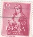 Sellos de Europa - España -  La Purísima -AÑO MARIANO  (W)