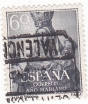 Stamps Spain -  Ntra. Sra. de Covadonga -AÑO MARIANO  (W)