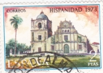 Sellos de Europa - España -  Iglesia de Subtiava- Nicaragua-HISPANIDAD -1973  (W)