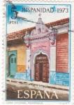 Stamps Spain -  Casa Colonial de Nicaragua -HISPANIDAD -1973  (W)