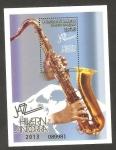 Sellos de Europa - Andorra -  Jazz en invierno 2013, saxofón