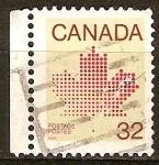 Sellos del Mundo : America : Canadá : Hoja de arce canadiense.