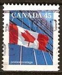 Sellos de America - Canadá -  Bandera canadiense.
