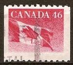 Sellos del Mundo : America : Canadá : Bandera canadiense.