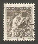 Sellos de Europa - Checoslovaquia -  761 - minero