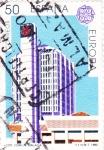 Stamps : Europe : Spain :  EUROPA CEPT -Edif Común Málaga      (W)-