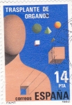 Stamps Spain -  Trasplante de órganos     (W)