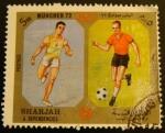 Sellos de Asia - Emiratos Árabes Unidos -  Sharjah & Dependencies; Olimpiadas Múnic 1972, runner