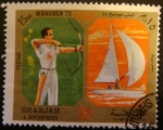 Sellos de Asia - Emiratos Árabes Unidos -  Sharjah & Dependencies; Olimpiadas Múnic 1972, archer