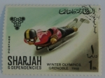 Sellos del Mundo : Asia : Emiratos_Árabes_Unidos : Sharjah & Dependencies; Olimpiadas de invierno, Grenoble, 1968. Luger