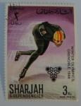 Sellos del Mundo : Asia : Emiratos_Árabes_Unidos : Sharjah & Dependencies; Olimpiadas de invierno, Grenoble, 1968. Esquí de velocidad