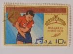 Sellos de Asia - Corea del norte -  Pak Yong Sun 33rd Campeonato del mundo de tenis de mesa, 1975. Corea del Norte