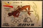 Sellos del Mundo : Asia : Corea_del_norte : Olimpiadas Barcelona, 1992, salto de altura. Corea del Norte