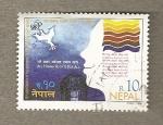 Stamps Nepal -  Derechos humanos para todos