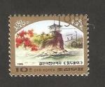 Sellos de Asia - Corea del norte -  1811 - Sitio revolucionario de Songgan