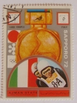 Stamps of the world : United Arab Emirates :  Olimpiadas Sapporo 1972. Ajman state and its dependencies. P.Hilgartner-W.Plakner (Italy) Parejas Lü