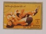 Sellos del Mundo : Asia : Emiratos_Árabes_Unidos : Olimpiadas 1972, Ajman state and its dependencies. Lucha