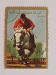 Sellos del Mundo : Asia : Emiratos_Árabes_Unidos : Ajman state and its dependencies. Salto a caballo