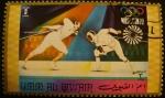 Sellos del Mundo : Asia : Emiratos_Árabes_Unidos : Umm-al-Qiwain. Olimpiadas Múnic 1972. Esgrima