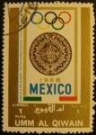 Sellos del Mundo : Asia : Emiratos_Árabes_Unidos : Umm-al-Qiwain. Olimpiadas Mexico 1968