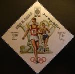 Sellos del Mundo : Asia : Emiratos_Árabes_Unidos : Umm-al-Qiwain. Olimpiadas Mexico 1968. Carrera