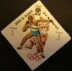 Sellos del Mundo : Asia : Emiratos_Árabes_Unidos : Umm-al-Qiwain. Olimpiadas Mexico 1968. Lanzamiento peso