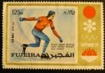 Sellos del Mundo : Asia : Emiratos_Árabes_Unidos : Fujeira. Sapporo 1972 Dutch speed skating. ard Schenk