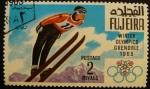 Sellos de Asia - Emiratos Árabes Unidos -  Fujeira. Grenoble 1968 salto de esquí