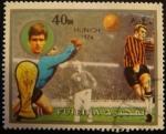 Sellos del Mundo : Asia : Emiratos_Árabes_Unidos : Fujeira. Munich 1974. Futbol