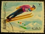 Sellos de Asia - Emiratos Árabes Unidos -  Ras al Khaima. Olimpiadas Sapporo 1972. Salto esquí