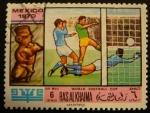Sellos de Asia - Emiratos Árabes Unidos -  Ras al Khaima. Copa mundial de fútbol Mexico 1970