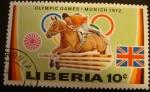 Stamps Africa - Sierra Leone -  Liberia. Olimpiadas Múnic 1972. Salto a cavallo