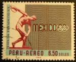 Sellos de America - Perú -  Olimpiadas Mexico 1968