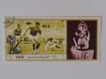 Sellos del Mundo : Asia : Emiratos_Árabes_Unidos : YAR. Campeonato del mundo de futbol Mexico 1970