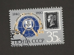 Sellos de Europa - Rusia -  150 aniv sello británico