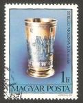 Sellos de Europa - Hungría -  2946 - Una copa del siglo 19