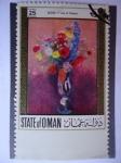 Stamps Oman -  Estado de Oman- Pintura del Frances: Odilon Redon (1840-1916). ¨A Vase of Flomers.(Jarrón de Flores)