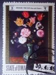 Sellos del Mundo : Asia : Omán : State of Oman-Pintura de:Pieter Brueghel, el viejo (1568-1625)¨Vase Wiht Flowers Jarrón con Flores)
