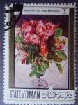 Stamps : Asia : Oman :  State of Oman-Pintura del frances Pierre-Auguste Renoir (1841-1920)¨Roses Mousseuses¨