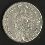 monedas de America - Perú -  GRAN ALMIRANTE MIGUEL GRAU ( POSTERIOR)