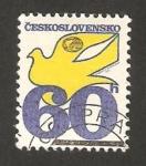 Sellos de Europa - Checoslovaquia -  2076 - paloma y emblema