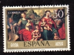 Stamps Spain -  desposorios misticos del venerable agnesio