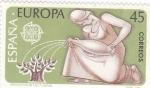 Sellos de Europa - España -  EUROPA CEPT -Proteccion de las Plantas          (W)