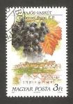 Stamps Hungary -  3285 - Región vinicola de Hungría, vista de la localidad y cepa, Hajos y Cabernet Franc