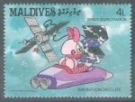 Sellos del Mundo : Asia : Maldivas : Disney Espacio 2