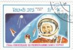 Sellos de Asia - Laos -  25 Aniversario del Primer Hombre en el espacio