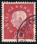 Sellos de Europa - Alemania -  Pres. Theodor Heuss