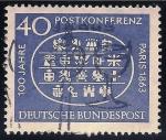 Sellos del Mundo : Europa : Alemania : Primer centenario Internacional de la Confederación Postal, París, 1863,