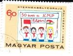 Stamps Hungary -  50 Aniversario de KMP